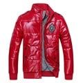 Homens jaqueta de Inverno Quente Casaco Acolchoado moda Masculina Outwear à prova d' água mens parka Plus Size 4XL Jaquetas jaqueta masculina