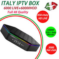Italy iptv Subscription for T95Zplus Android 7.1 tv box 16G ROM Octa-core cortex-A53 support H.265 smart tv Box 1 year xxx iptv
