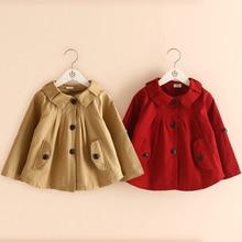 wt-3311 Spring 2017 Korean version of the new small Lapel dresses Baby Short windbreaker jacket windbreaker Trench