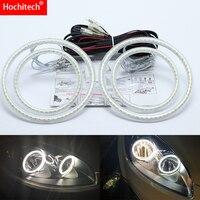 for Fiat Linea 2007 2015 Ultra bright SMD white LED angel eyes 2600LM 12V halo ring kit day light