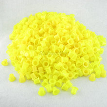 1000PCS Small Size 8mm Yellow Plastic Tattoo Ink Cap Cups Supply YIC9-1000