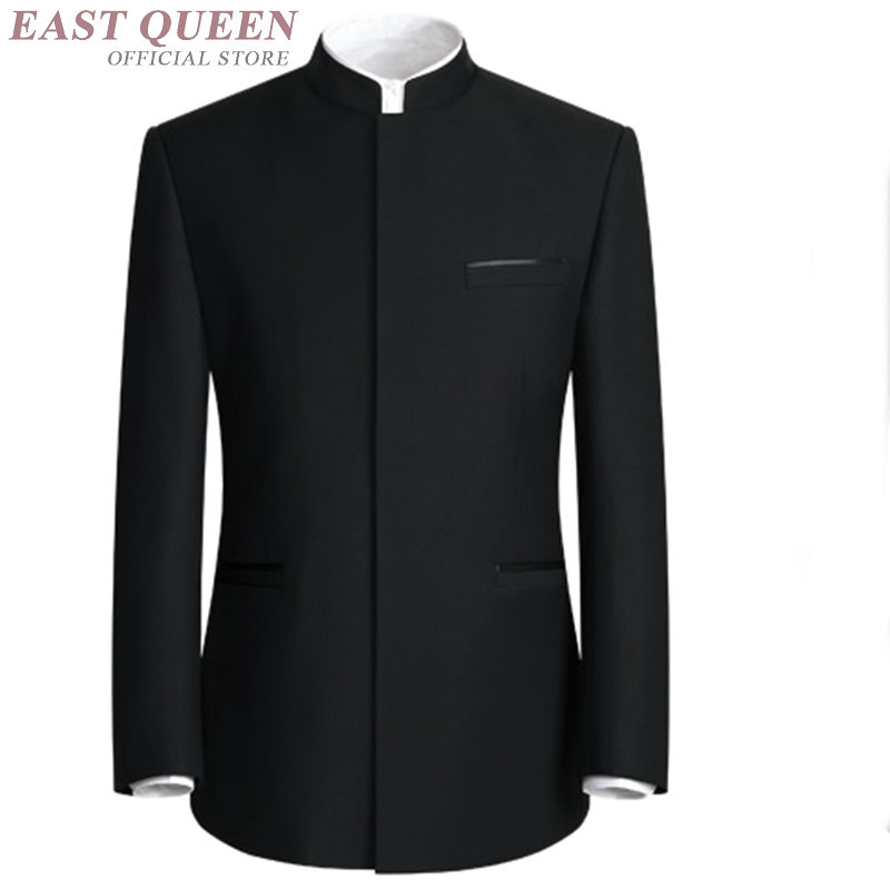 Mandarin collar ชุดสำหรับชาย tang zhongshan ชุด AA4011-ใน สูท จาก เสื้อผ้าผู้ชาย บน   2