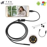 1M 2M 5M 7mm USB Endoscope Android OTG Phone Endoscopio Mini Endoscope Camera Waterproof Inspection Camera