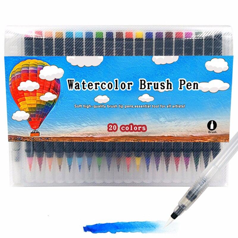 Brush Marker Set Water Color Soft Adult Book Manga Comic Paint coloring Art Marker Calligraphy Watercolor Brush Pen Set