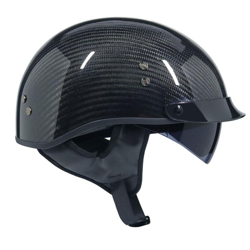 2018 new carbon fibre harley helmet with inner sun visor. Black Bedroom Furniture Sets. Home Design Ideas