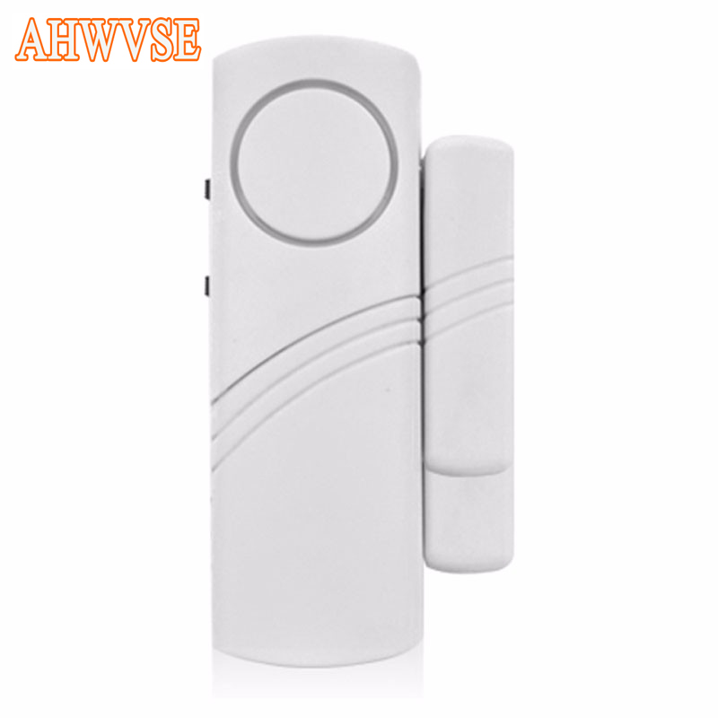 Door Window Wireless Burglar Alarm With Magnetic Sensor White  Home Safety Wireless System Security Device