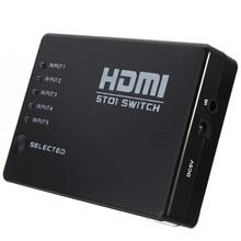 5 Port 1080P HDMI Switch Switcher Splitter Box Hub With Wireless IR Remote Control for HD-DVD for Sky-HD STV