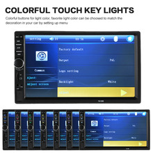 7 inch Universal 2 Din HD Bluetooth MP5 Player Touch Screen USB/TF Aux Input with HD Rear View Camera