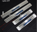 LED Stainless Steel Door Sill Sills Scuff Plate For 2006-2012 MITSUBISHI Lancer
