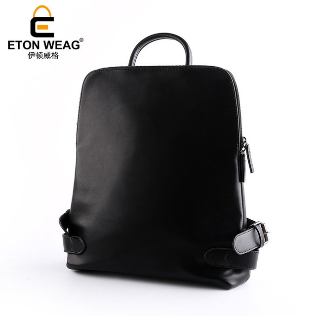 1f9000e8e683 ETONWEAG Brands PU Leather Backpacks For Teenage Girls Black Fashion School  Bags For Women 2018 Zipper