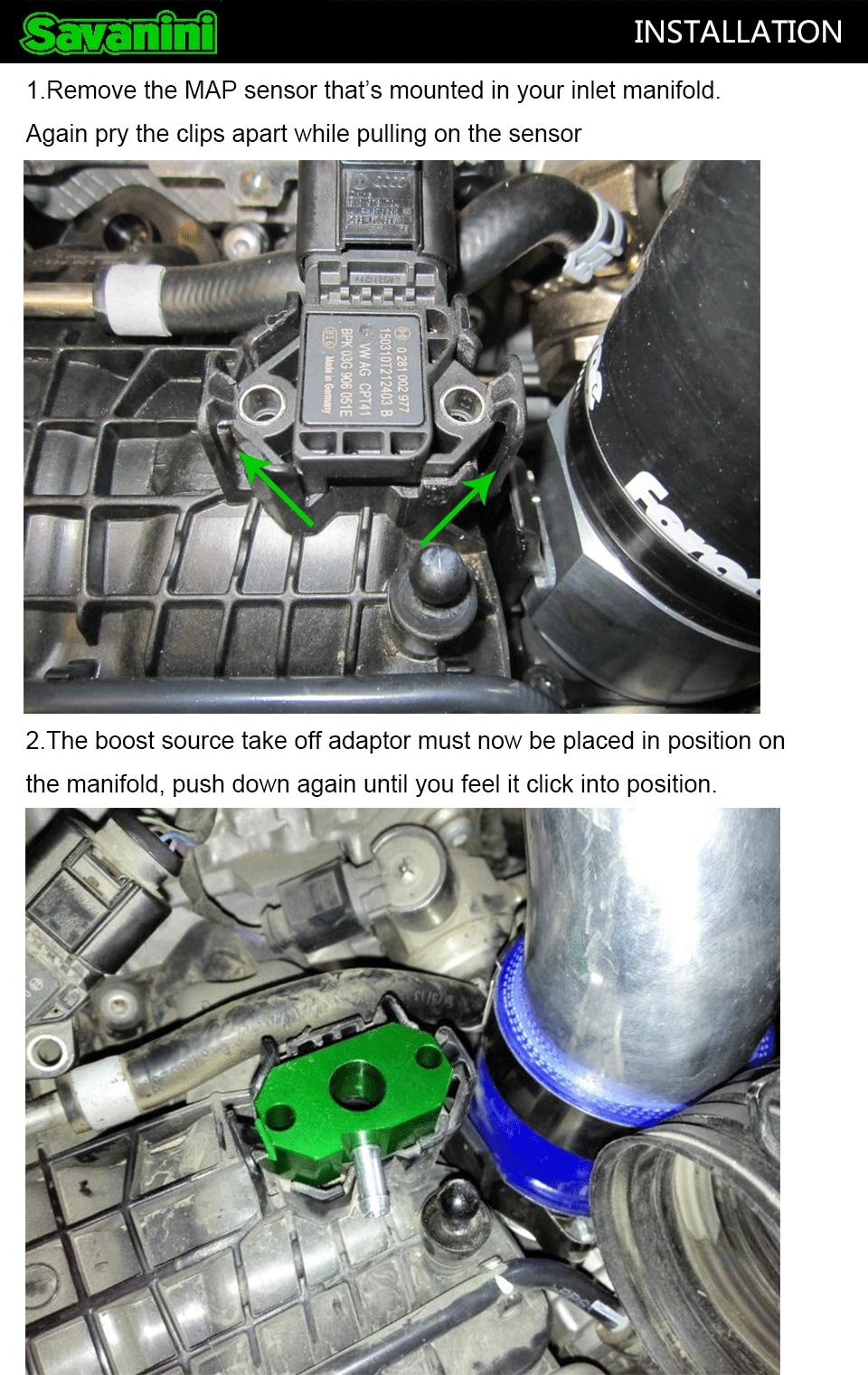 Turbo boost tap vácuo adaptador de alumínio