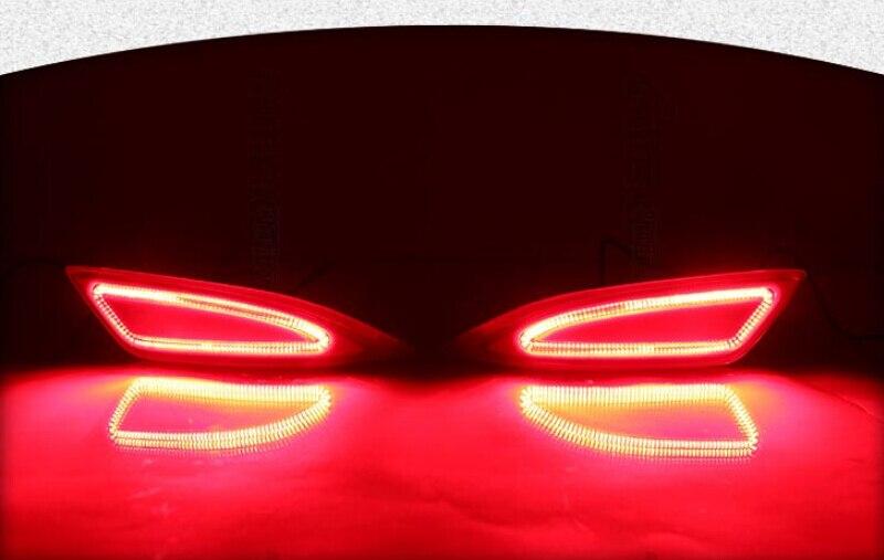 бесплатная доставка для Тойота Камри 2015-16 LED задний отражатель Лампа Камри задний бампер DRL свет, сигнал, тормоза Автомобильные аксессуары