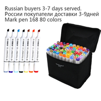 TouchNew Art Marker Double Head Artist Soluble Colored Copic Sketch Marker Brush Pen Set For Drawing