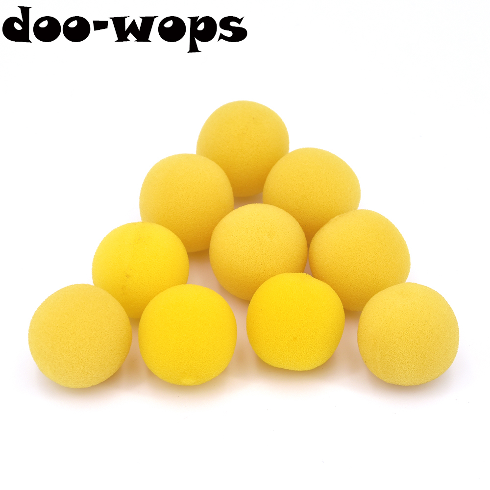 10pcs 3.5cm Soft Yellow Sponge Ball Finger Magic Tricks Appearing/Vanishing Balls Magia Stage Street Illusions Fun Classic Toys