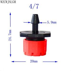 Image 4 - 500 pcs 8 구멍 빨간색 조정 가능한 흐름 도저 마이크로 노즐 도저 에미 터 물방울 관개 스프링클러 노즐 정원 급수