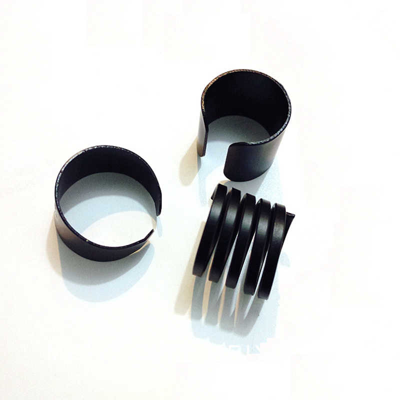 Fashion Black Scrub Surface Spring Wide Ring Adjustable Matte Rings for  Women 3 pcs/set