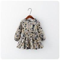 2016 Spring Summer New Product Incoming Korean Children S Garment Girl Baby Flower Long Sleeve Dress