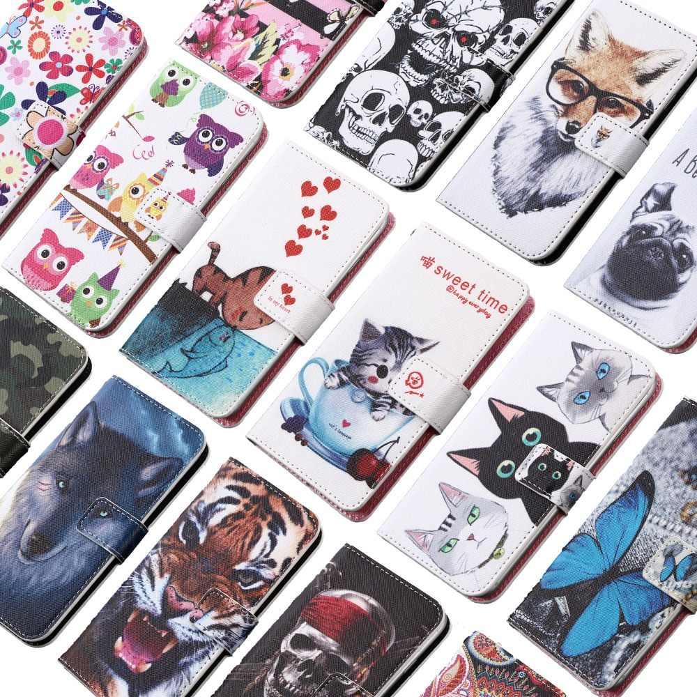 GUCOON Cartoon portfel etui do Vertex Impress kliknąć Disco mróz gry wilk moda PU skórzany pokrowiec Case telefon torba