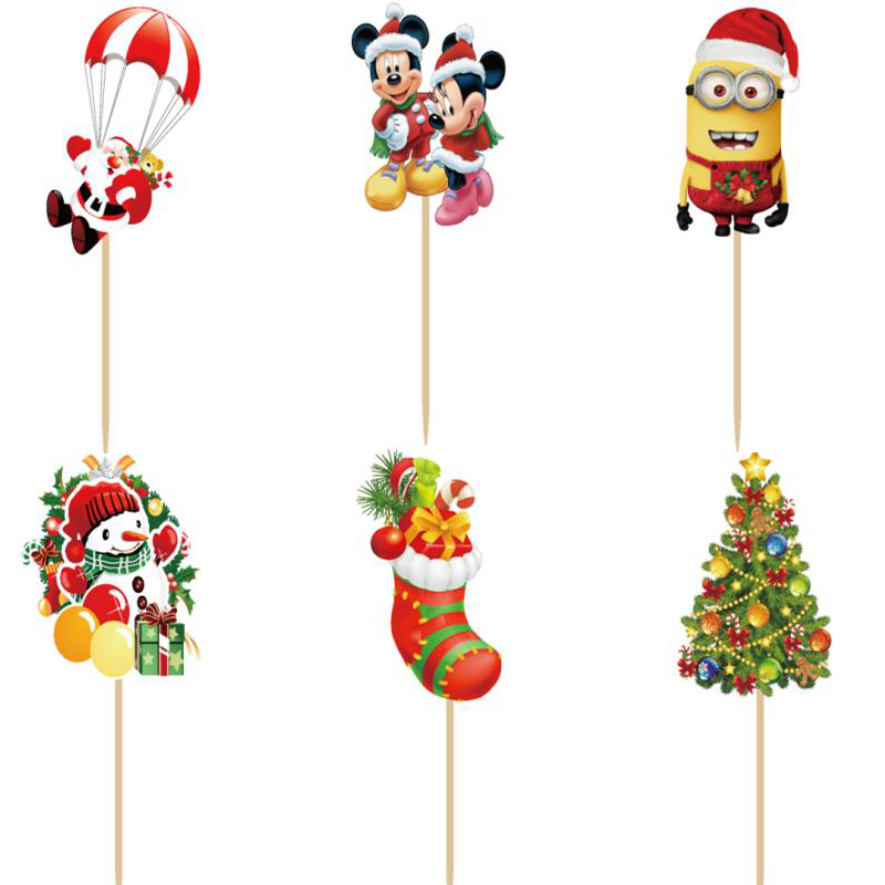 Christmas Cupcake Toppers.Us 7 71 36 Off Free Shipping 96pcs Christmas Cupcake Toppers Picks Christmas Decorations For Home Cake Merry Christmas Christmas Gifts In Cake
