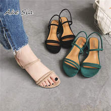 new Flat outdoor slippers Sandals foot ring straps Roman sandals  low slope with women's shoes low heel shoes Sandals mujer