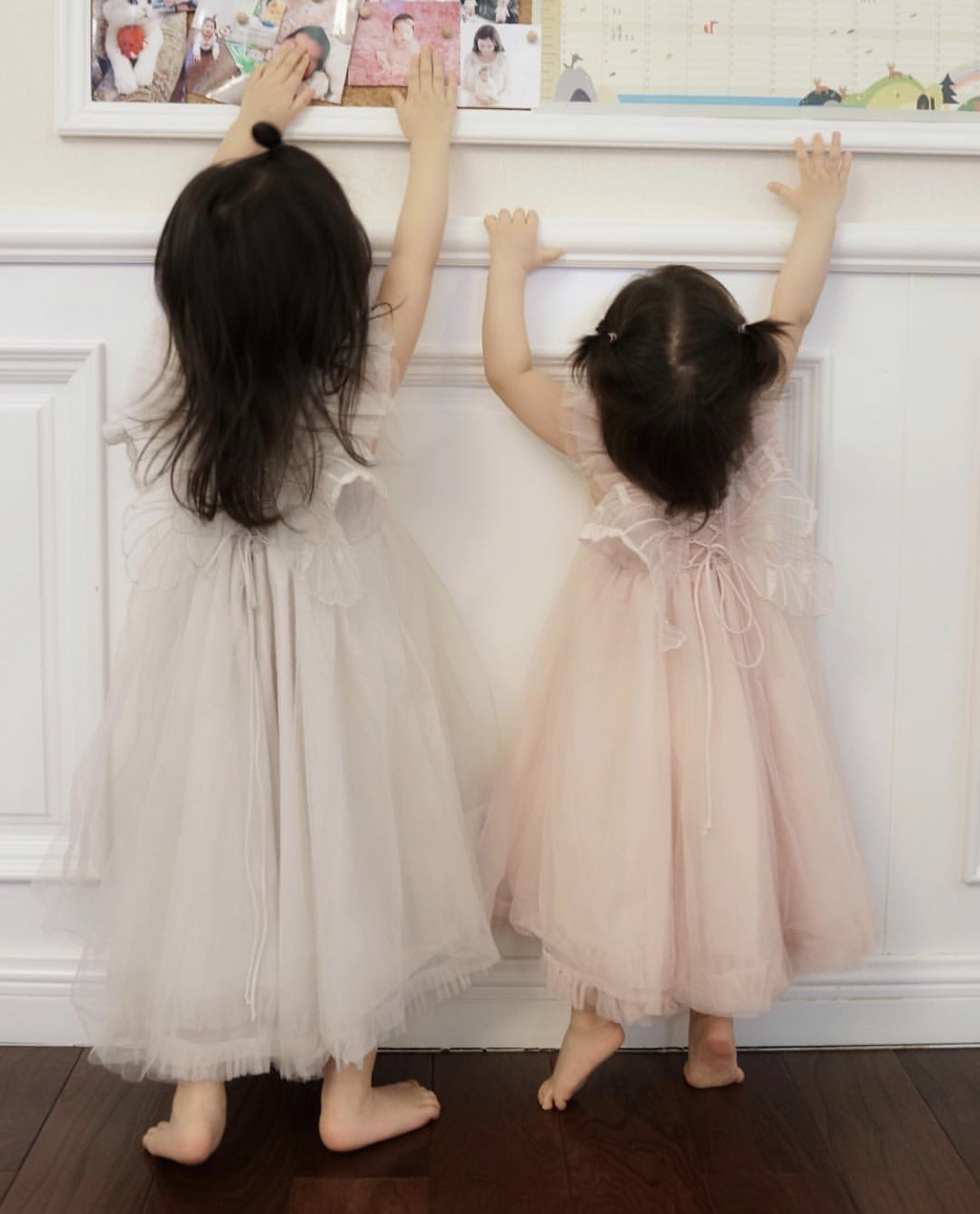 Ins hot bébé fille sans manches robe de fil bébé fille robes d'été robes de princesse de fête