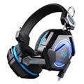 Kotion each gs210 estéreo com fio fones de ouvido fone de ouvido com microfone gaming headset gamer respiração led luz para computador jogo para pc