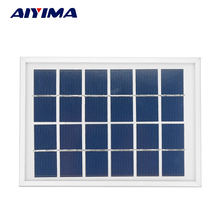AIYIMA Solar Panels 6V 2W Photovoltaic Panels Solar Emergency Battery Energy Plate 180x130MM Solars Power Bank