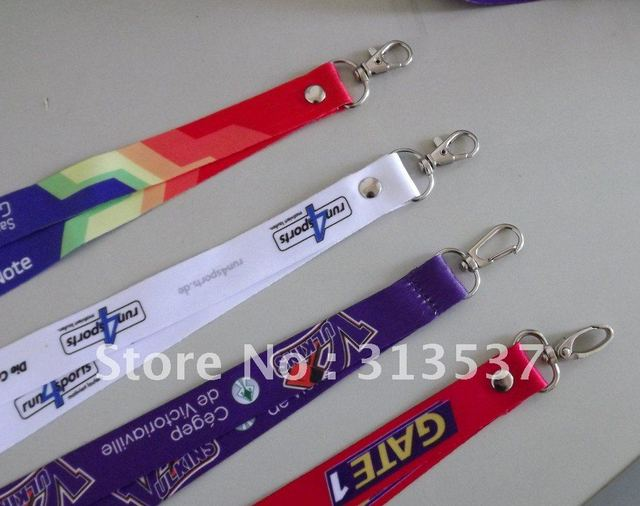 500pcs/lot 20mm*90cm free shipping printed lanyard printed strap custom lanyard with snap hook sublimated polyester lanyard