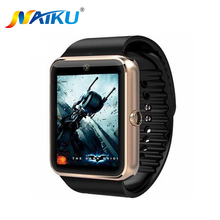 GT08 NAIKU Inteligente Bluetooth reloj SmartWatch para iPhone 6 plus 7 Samsung S4/Nota 3 HTC Android Smartphones Teléfonos Android Wear