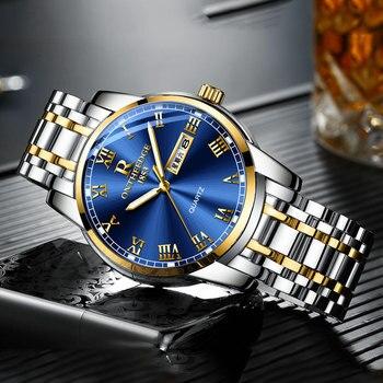 Stainless steel Waterproof Business Date Analog Wrist watch 2