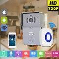 Беспроводной IP-ДВЕРНОЙ Звонок С 720 P Камеры Видео Домофон Телефон WIFI дверной звонок Ночного Видения ИК Motion Detection Alarm для IOS Android