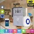 Teléfono Video Portero Timbre Con 720 P Cámara IP inalámbrica WIFI timbre de la puerta de la visión nocturna ir motion detección de alarma para ios Android