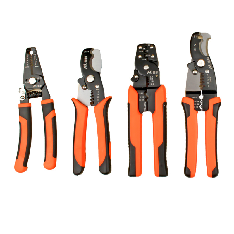 7/8 Wire Stripper Crimping Pliers Multifunctional Wire Stripping Plier Cable Cutter Electrician Multi Tool