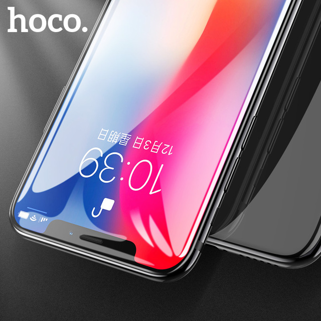 HOCO for Apple iPhone X XS 3D Tempered Glass Film Screen Protector Full Cover Touch Screen Protection for iPhone 11Pro XS Max XR 2