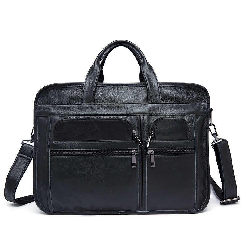 Nesitu Винтаж A4 черный Кофе серый из натуральной кожи Офисные Для мужчин Портфели портфель Бизнес Курьерские сумки M8893