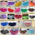 free shipping wholesale kids cheap rainbow fluffy princess party green tutu skirt babies fluffy tutu skirt