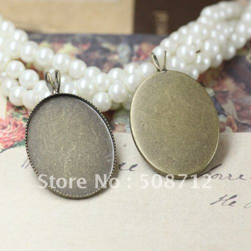 Free shipping!!! 500pcs/lot 18*25MM silver color Cameo Cab Base Setting Pendant finding CCP0008