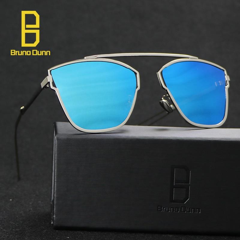 2018 Oculos De Sol Feminino Mirror Flat Lens Sunglasses Women Brand Designer Stylish Metal Frame Rayed Sun glasses Female Points