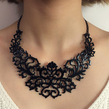 Tocona Trendy Gold Silver Black Hollow Out Heart Flower Shaped Chokers Necklace for Women Charming Collar Necklaces Jewelry 5514 цены