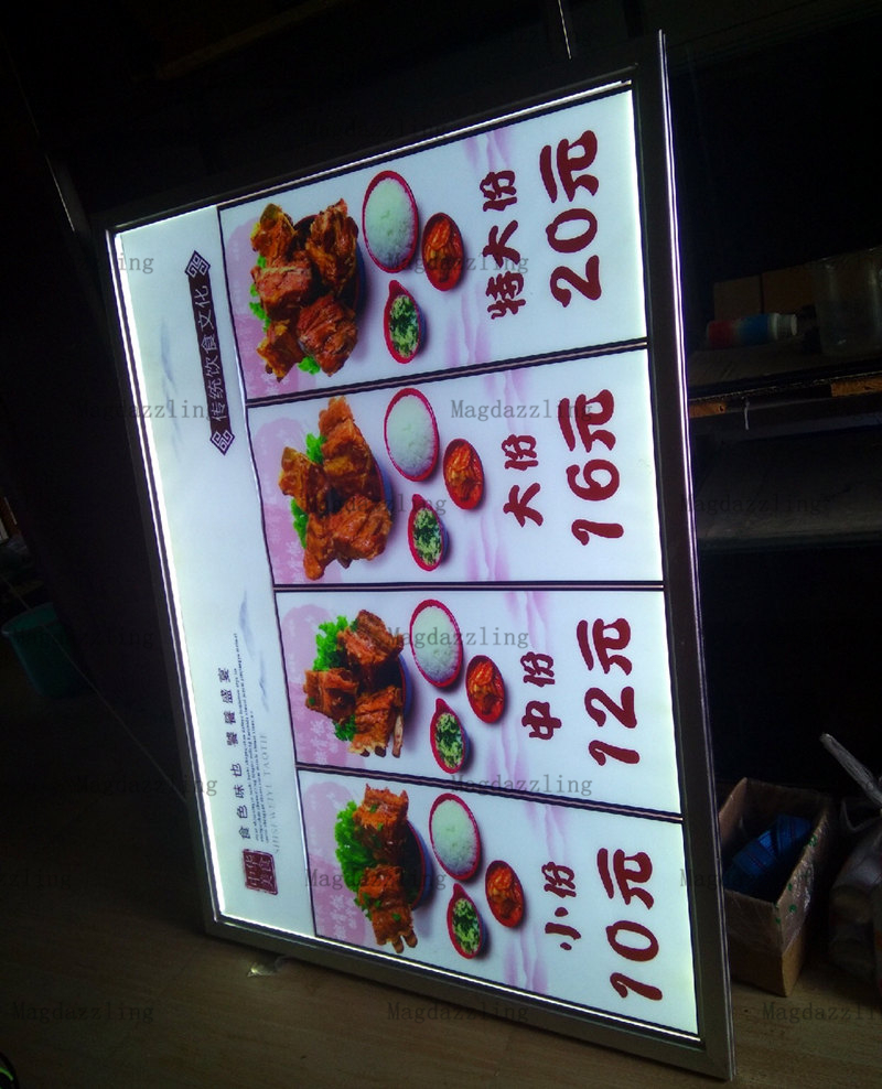 Commercial Lighting Back To Search Resultslights & Lighting Straightforward 5pcs X A1 High Brightness Snap Frame Led Illuminated Menu Boards,restaurant Menu Poster Light Signages High Quality Materials