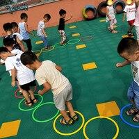 Preskool bebek oyuncak çocuklar için atlama halkası anaokulu öğretim yardımcıları açık spor oyunu fiziksel Fitness eğitim ekipmanları