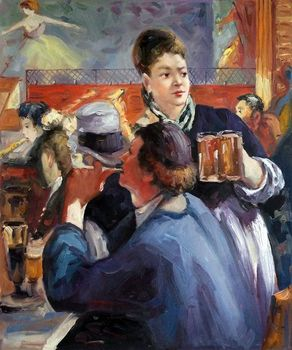 Living Room Wall Painting Corner of a Cafe Concert by Edouard Manet Oil Painting Canvas Art Portrait Vertical