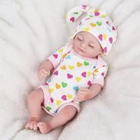 Baby's Silicone Full Coverage Lifelike Simulated Company Girl Reborn Doll