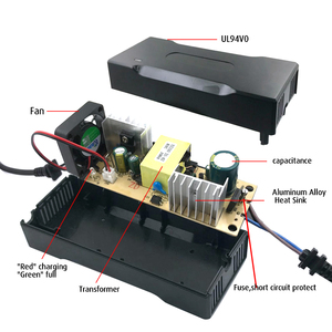Image 3 - YZPOWER 42V 2.5A lityum pil şarj cihazı için 36V 2.5A lityum pil standart pil veya diğer pil daktilo