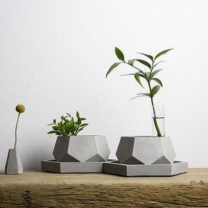 Image 5 - Geometric Concrete Planter Mold  Silicone Mould Handmade Craft Home Decoration Tool