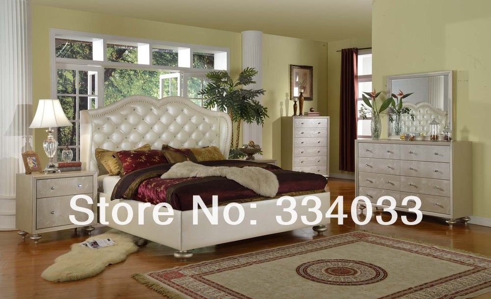 BEDROOM SETS REAL LEATHER WITH SOLID WOOD B508 in Bedroom Sets