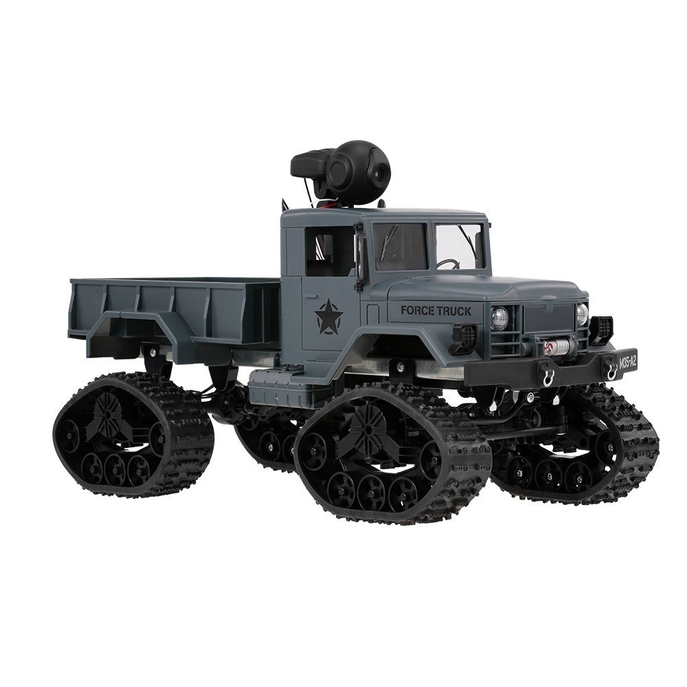 1/16 Military Truck 2.4GHz 4WD 480P Wifi FPV Camera 3000G Load Snow Tire Off road Car Crawler with LED Headlights for Kids gifts