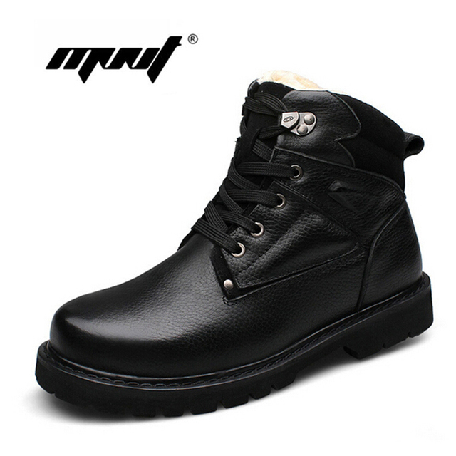 Hot Selling Winter Super Warm Men Snow Boots Soft Leather Ankle Boots Plus Size Waterproof Winter Shoes