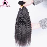 Kinky Straight Human Braiding Hair Bulk No Attachment Brazilian Bulk Hair For Braiding 1Pc Crochet Braids Dolago Remy Hair