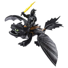 1Pc Toothless Action figure Light Fury Dragon Toys For Childrens Birthday Gifts